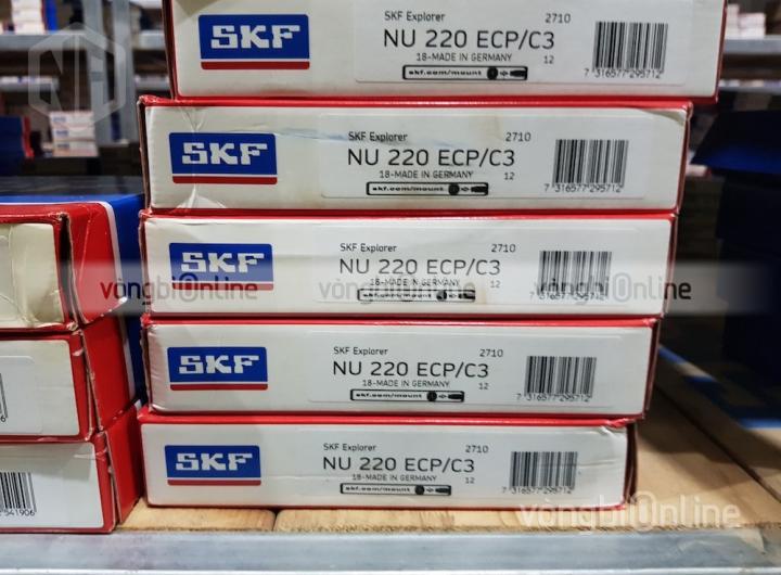 Vòng bi SKF NU 220 ECP/C3 chính hãng, Đại lý ủy quyền vòng bi SKF