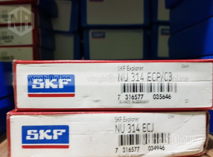 Vòng bi SKF NU 314 ECP/C3 chính hãng, Đại lý ủy quyền vòng bi SKF