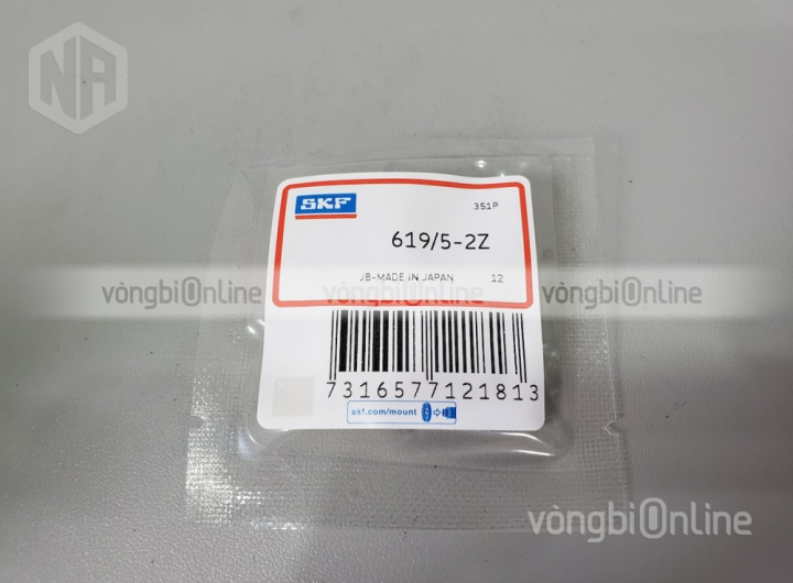 Vòng bi bạc đạn 619/5-2Z chính hãng SKF - Vòng bi Online